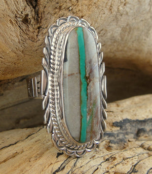 Boulder Turquoise Split Shank Ring - Side View
