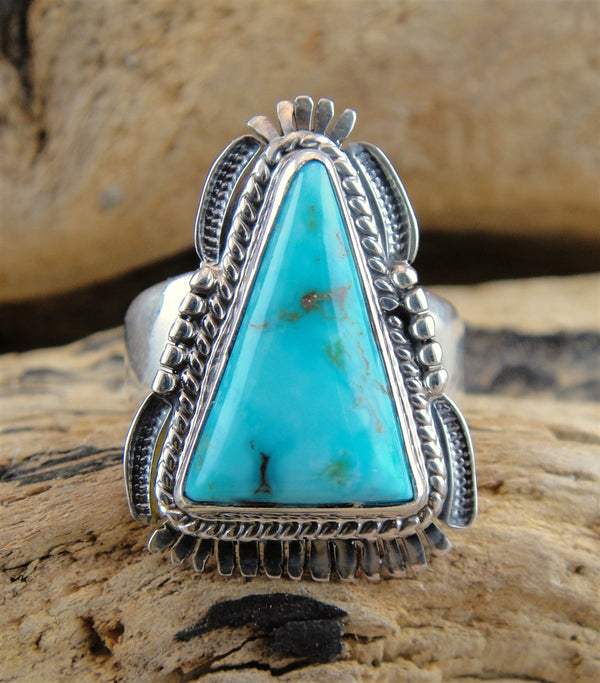 Candelaria Turquoise Triangle Ring