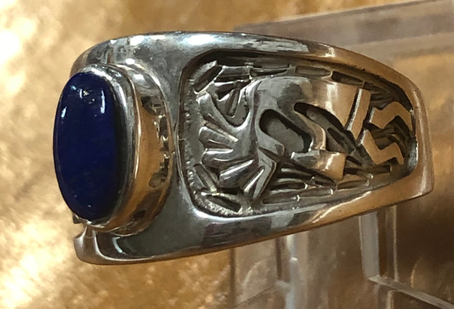 Lapis Kokopelli Ring