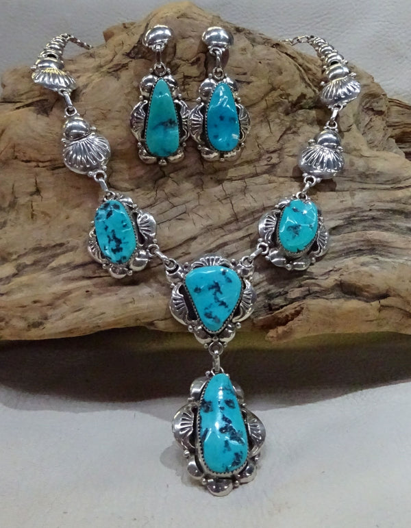 Sterling Silver And Turquoise Set