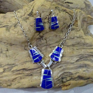 Lapis and Opal Inlay Set