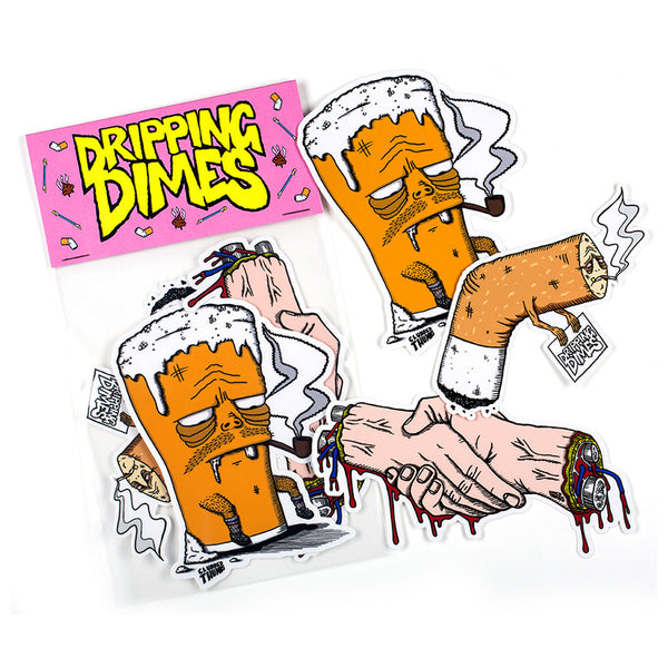 Dripping Dimes Sticker Pack<br>