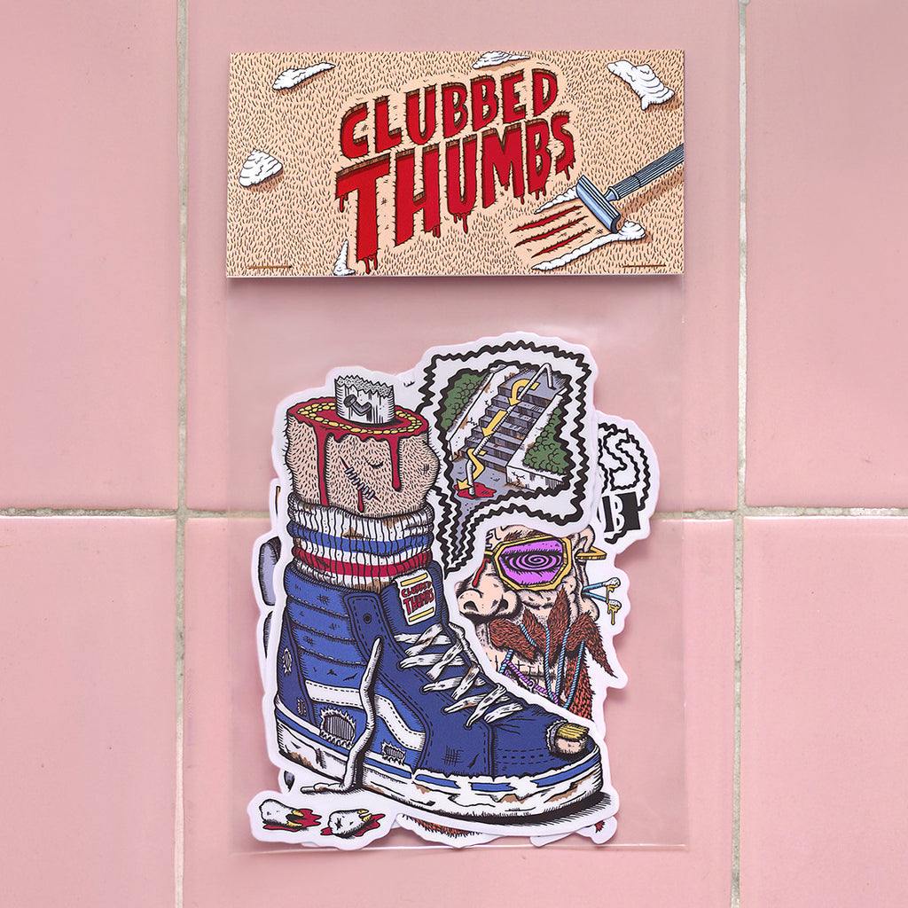 Clubbed Thumbs Sticker Pack<br>
