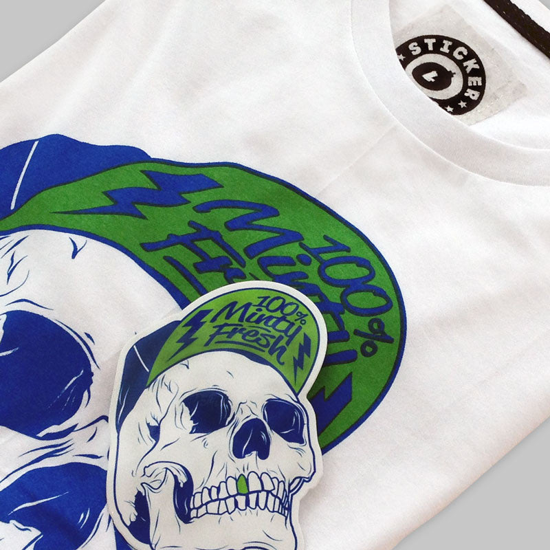Minty Fresh Skull T-Shirt<br>