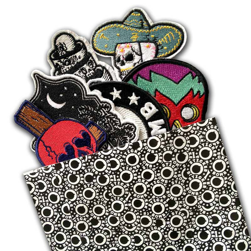 Stickerbomb Skulls Patch Set<br>