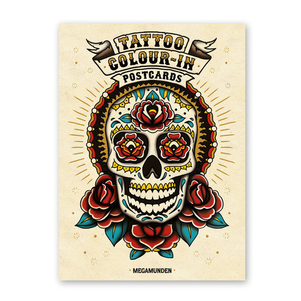 Tattoo Colour-In Postcards<br>