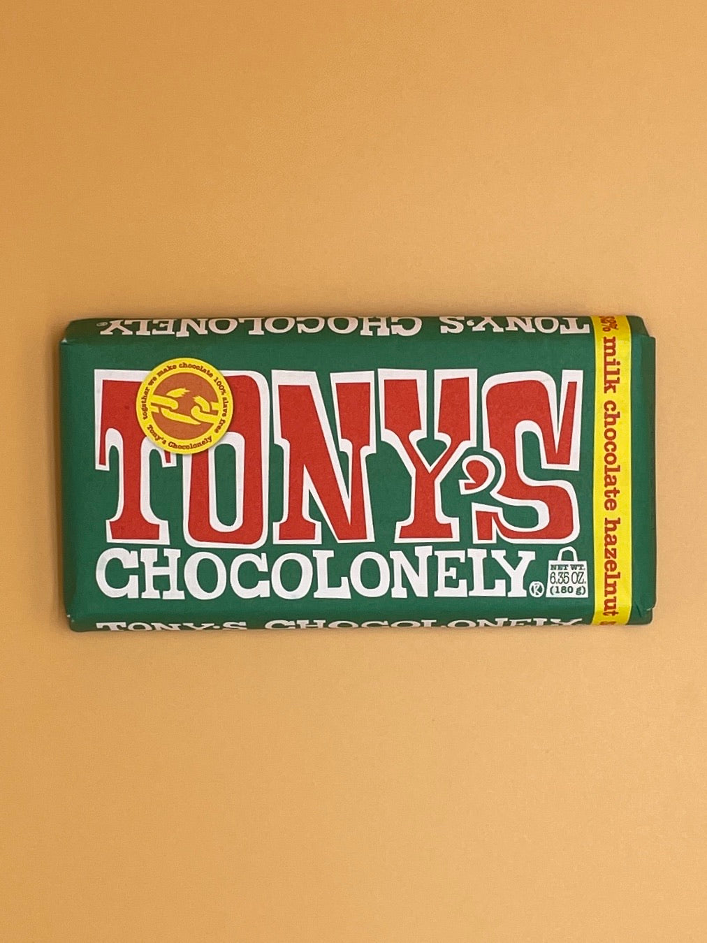 Tony's Chocolonely Milk Chocolate Bar with Hazelnut 32%
