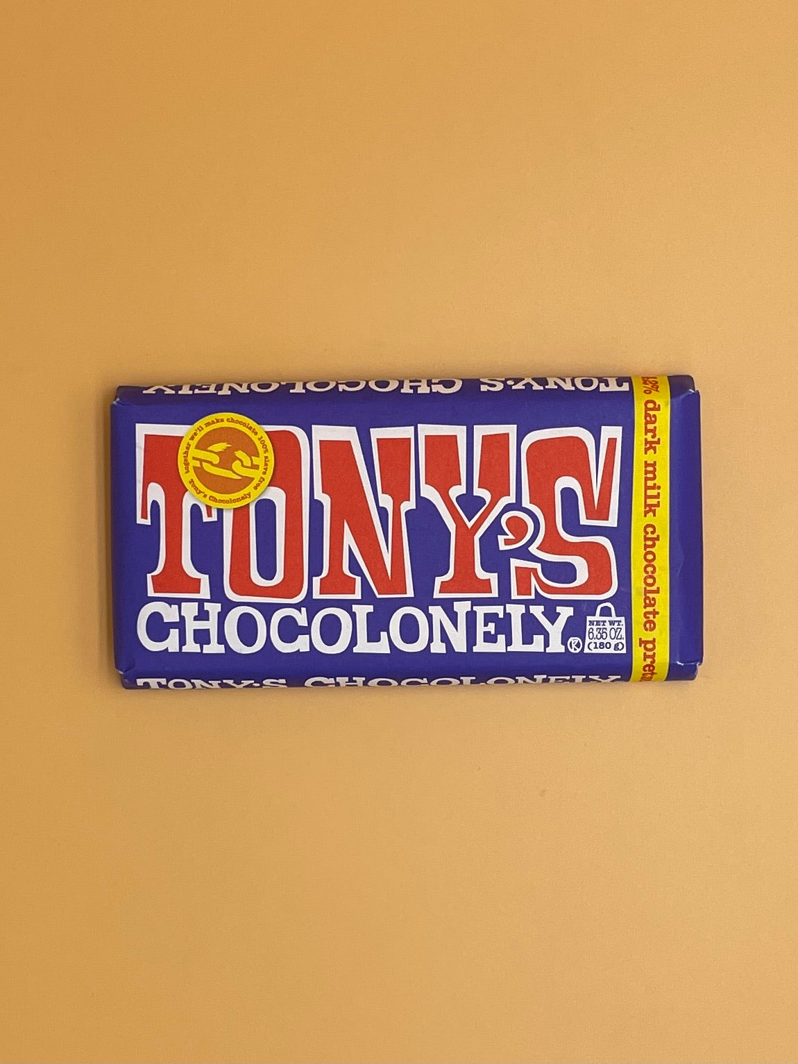 Tony's Chocolonely Dark Milk Chocolate Bar with Pretzel Toffee 42%