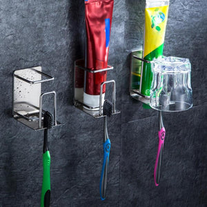 Wall Mounted Stainless Steel Toothbrush Holder