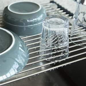 Stainless Steel Roll Up Dish Drying Rack