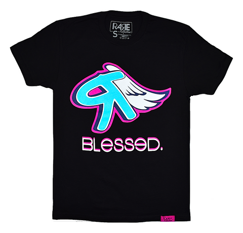 Blessed Tee in Black / Crystal Blue / White / Navy Blue / Pink