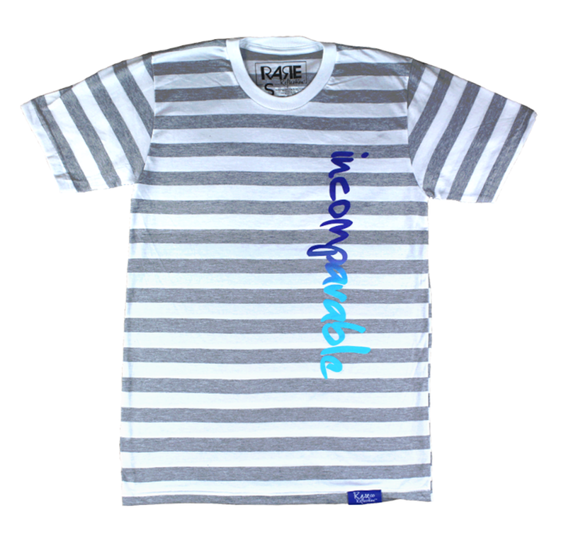 Incomparable Tee in Stripes / Royal Blue / Crystal Blue