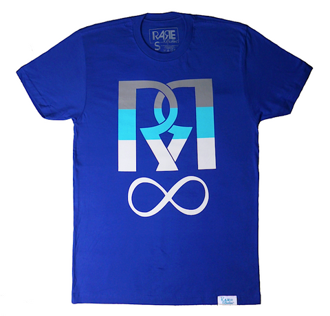 Infinite Reflection Tee in Royal Blue / Gray / Crystal Blue / White
