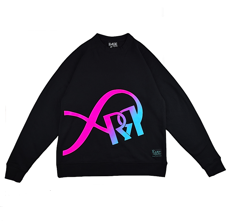 Limitless Reflection Crewneck in Black / Pink / Purple / Crystal Blue
