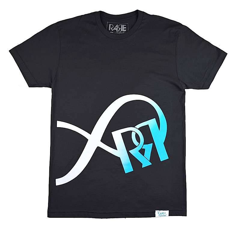 Limitless Reflection Tee in Graphite / White / Crystal Blue