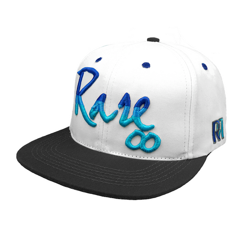 Rare Infinity Cursive Snapback in White / Graphite / Royal Blue