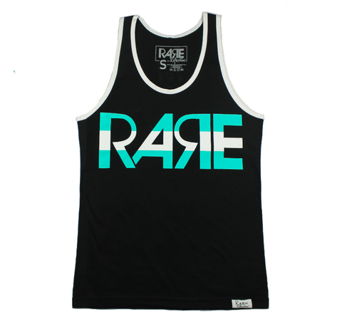 Rare Original Bold Tank in Black / Teal / White