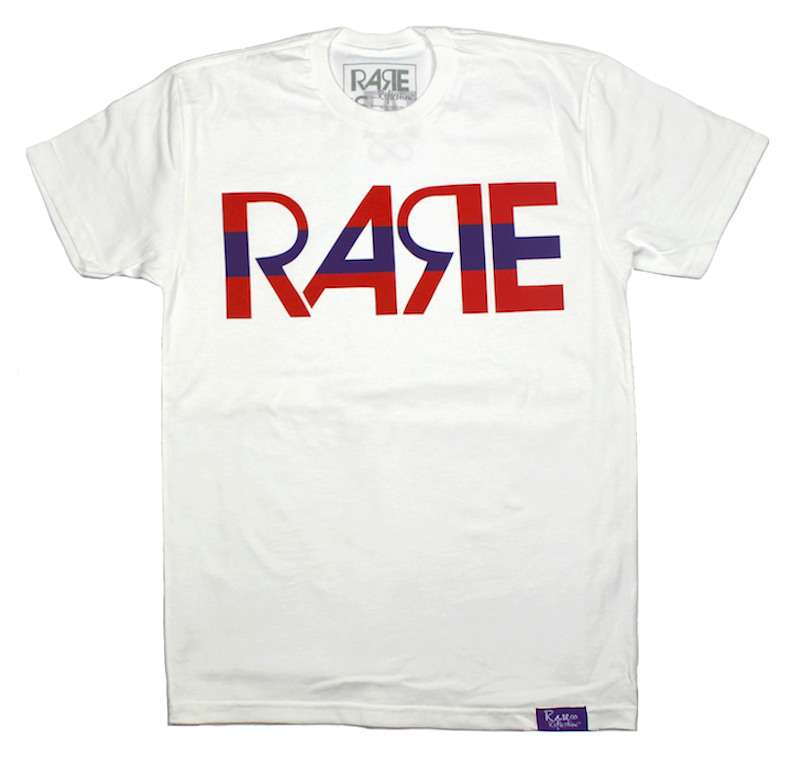 Rare Original Bold Tee in White / Infrared / Purple