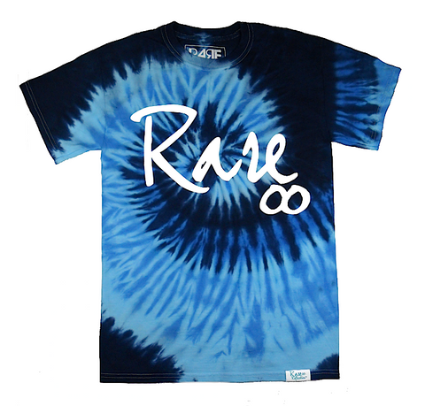 Rare Infinity Cursive Tee in Tie-Dye / Blue / White