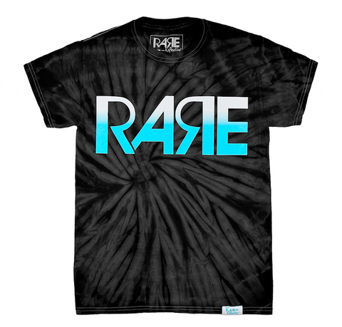 Rare Original Bold Tee in Tie-Dye / Black / White / Crystal Blue