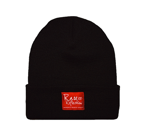 Rare Reflection Beanie in Black / Red / White