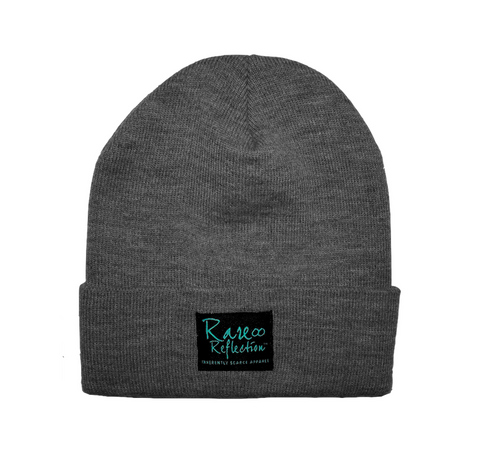 Rare Reflection Beanie in Heather Gray / Black / Crystal Blue