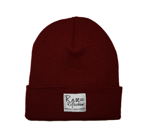Rare Reflection Beanie in Maroon / White / Graphite