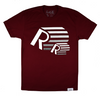 RR-3D Tee in Maroon / White / Graphite