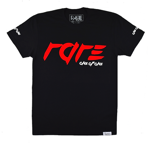 "Rare ""One Of One"" Tee in Black / Rare Red / White"