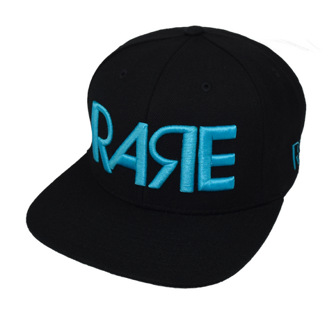Rare Original Bold Snapback in Black / Crystal Blue