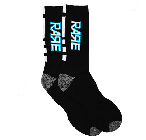 Rare Original Bold Socks in Black / Crystal Blue / White