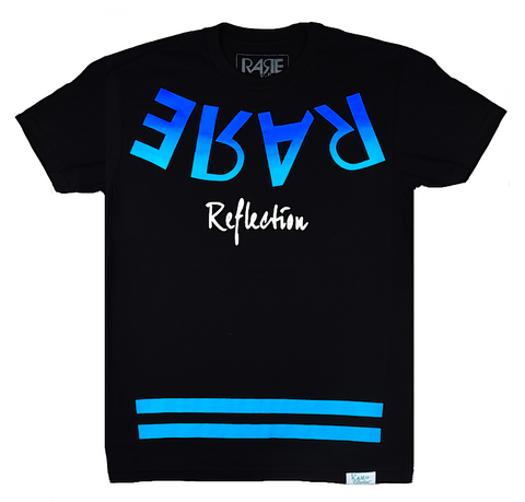 Self Reflection Tee in Black / Neon Blue / Crystal Blue / White