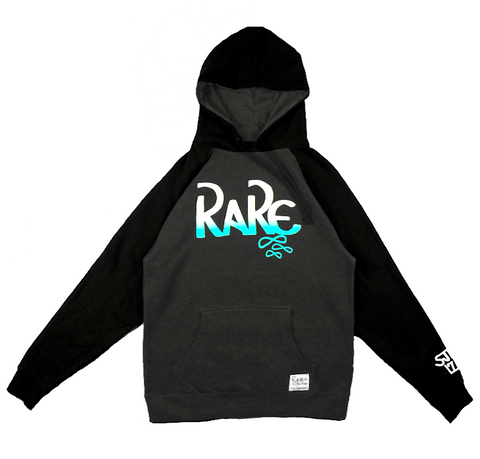 Rare x SJK 171 Hoodie in Charcoal / Black / White / Crystal Blue