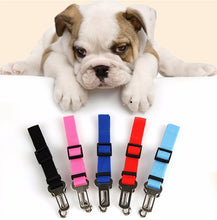 Load image into Gallery viewer, Pet Dog and Cat Car Seat Belt | Adjustable Harness Seatbelt | Lead Leash for Small Medium Dogs Travel Clip