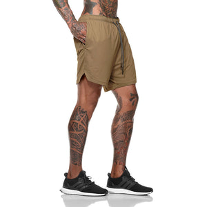 Mens 2 in 1 Running Jogging and Leisure Shorts