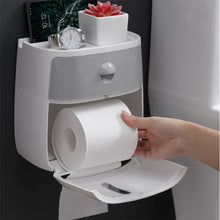 Load image into Gallery viewer, Waterproof Wall Mountable Toilet Tissue Paper Holder