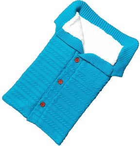 Newborn Baby Winter Warm Sleeping Bags| Infant Button Knit Swaddle Wrap | Swaddling Stroller Wrap | Toddler Blanket Sleeping Bags