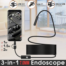 Load image into Gallery viewer, TYPE C USB Mini Endoscope Camera | Flexible Hard Cable Snake Borescope Inspection Camera for Android Smartphone PC