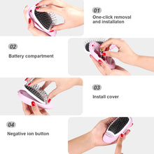 Load image into Gallery viewer, Portable Electric Ionic Hairbrush