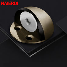 Load image into Gallery viewer, Stainless Steel Rubber Magnetic Door Stopper