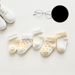5 pair High Quality Thicken Cartoon Comfort Cotton Newborn Socks Kids Boy New Born Baby Girl Socks Meia Infantil Miaoyoutong