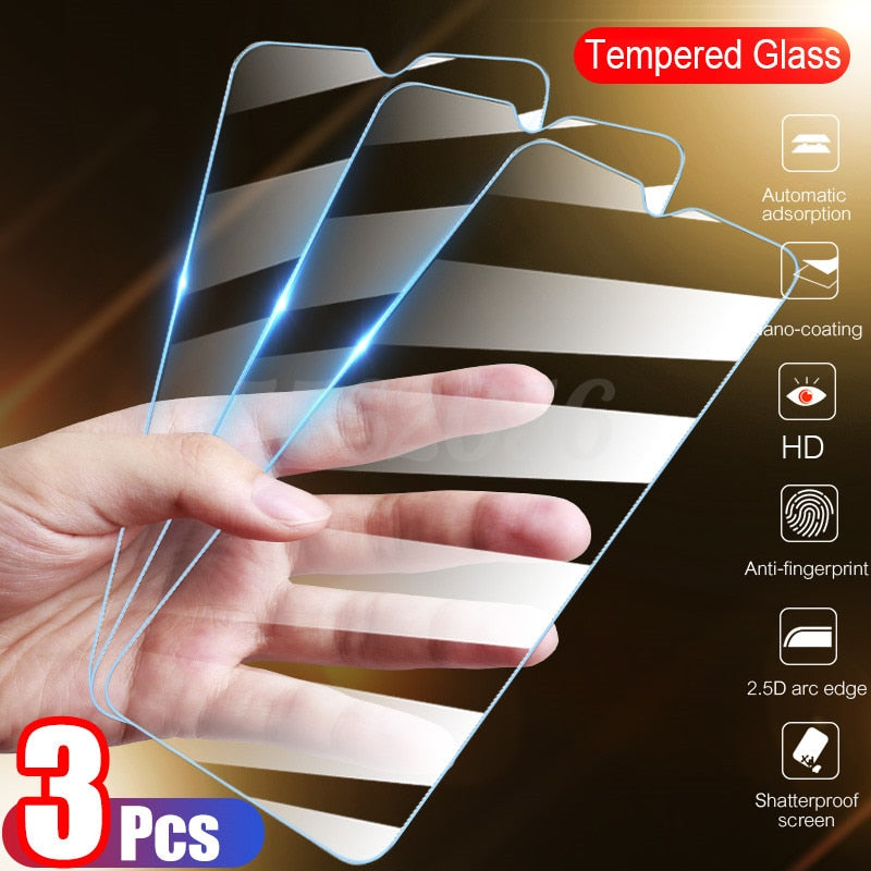 3Pcs Tempered Glass Screen Protector  For Huawei P30 P40 Lite P20