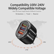 Load image into Gallery viewer, USB Fast Quick Universal Wall Mobile Phone Tablet Charger for iPhone 11 Samsung Huawei