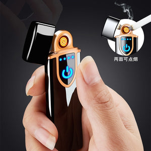 New Double Plasma  Windproof Electric Arc Cigarette Lighter