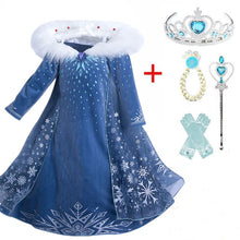 Load image into Gallery viewer, Princess  Elsa Girls Cosplay Dresses Snow Costumes For Kids