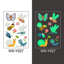 Load image into Gallery viewer, Luminous Temporary Fake Tattoos Glow Paste Mermaid Tattoo Stickers for Children Body Art