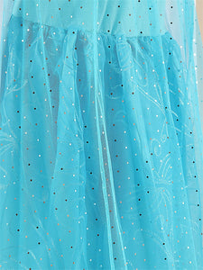 Princess  Elsa Girls Cosplay Dresses Snow Costumes For Kids