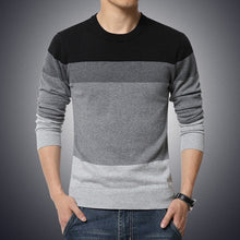 Load image into Gallery viewer, Autumn Casual Men's Sweater | O-Neck Striped Slim Fit Knittwear | Mens Sweaters Pullovers