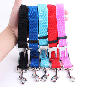 Pet Dog and Cat Car Seat Belt | Adjustable Harness Seatbelt | Lead Leash for Small Medium Dogs Travel Clip