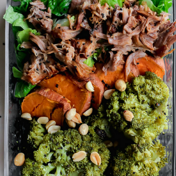 Slow Cooker Korean Pork Meal Prep Bowls